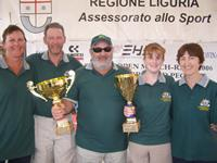 1.	Photo - The victorious Australian Team at the 2006 Homerus Blind Match Racing Championships presentations.  L-R - Sonya Staley (escort), David Staley (coach/manager), Paul Borg (helm), Kylie Forth (sheet hand), Margaret Forth (escort).