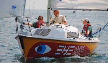 Kylie Forth competes at the 2009 Homerus Championships for Blind Sailors