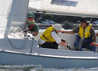 Craig Gordon (AUS) has made the semi finals in his debut match race regatta